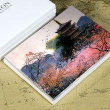 postcard set of 12 Post card variety pack depicting Overseas Landscape Ink and Wash Painting JY-404