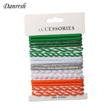 16pcs Everyday Plait Mix Hair Ponies Elastic Rubber Party Hairband Rope Ponytail Holder Hair Rope Hair Tie Set Danrrsh(China)