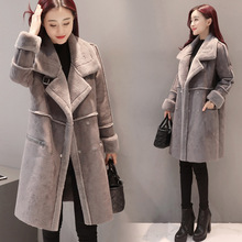 Winter Woman Shearling Winter coat women Coats Faux Suede Leather Jackets Plus Loose Coat Medium Long Faux Lambs Wool Coat(China)