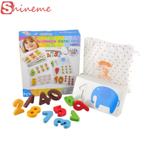 1 set learning education wooden classic kids baby educational math toys for girls boys children alphabet letters puzzle card