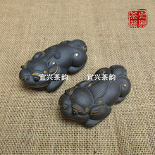 Hot Handmade Modern Mascot Nice Purple Clay Brave Troops Sculpture Good Quality Teapot Decoration Collection Value Lucky Gift PL(China)