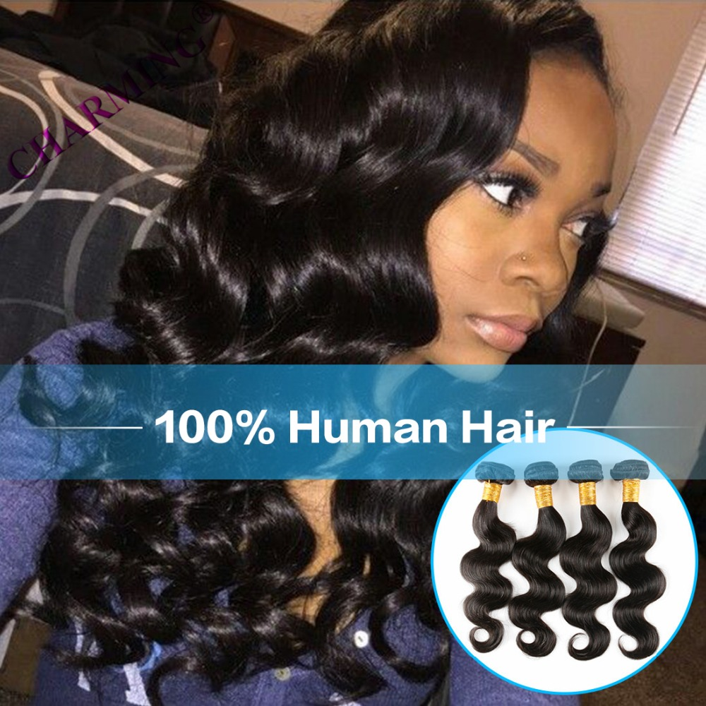 Charming 8A Indian Virgin Hair Body Wave 4PCS Hair Products Short Human Hair Weave Extensions Indian Hair Accessories<br><br>Aliexpress