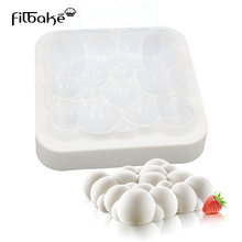 FILBAKE Square Cloud Bubbles Shaped 3D Silicone Cake Mold Cupcake Baking Cake Pan Non-Stick(China)