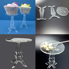 10 Pcs/lot Removable transparent cupcake display stands Acrylic muffin stand holder for party favors(7.5x10.5cm)