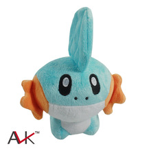 1Pcs 15cm Mudkip Plush Toy Soft Stuffed Doll With Tag Brithday Gift Free Shipping kids toys kawaii plush toys