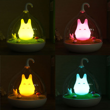 Sale Cage Totoro Wall Lamp Indoor Portable Touch Sensor USB LED Baby Kid Night Light Bedside Lamp Home Decor Bedroom