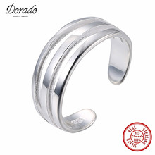 Dorado Unique Design Punk Cool Statement Sterling Silver Tail Ring Wide Hollow High Polish Smooth Open Rings