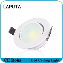 20pcs COB Led Downlight Dimmable 3W 6W Warm/Cold White Spotlight Ceiling Lamp Led Recessed AC220V
