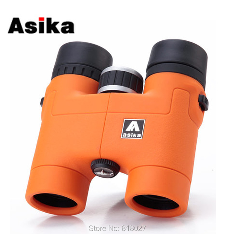 Original Asika 8x32 Binoculars telescope HD high quality telescopio binoculo BAK4 prism Roof Prism Fully Multi-Coated 4 colors<br>