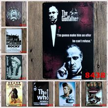 New 2016 Metal TIN SIGNS Hollywood Movie Retro Poster Vintage iron metal painting for Home Bar Cafe Pub wall Decor(China)