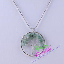 Cordial Design Manmade Natural Jewelry Mint Tree of Life Semi Precious Stone Pendant Best Party Gift CDTL-602035