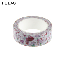 1 Pc / Pack Flower Plant Japanese Washi Tapes Decorative Adhesive Diy Masking Paper Tape Label Sticker For Gift