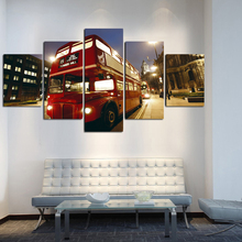 sell free shipping city bus digital photos home decoration wall stickers art canvas paintings the city pictures no framed FA99