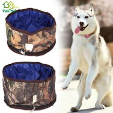 Zipper Design  Portable Pet Dog Cat Collapsible Foldable Bowl Travel Camping Food Water Feeder Bowl For Dog's Pet Supplies