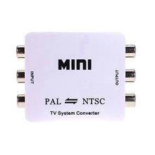 30set/lot Mini HD PAL NTSC Mutual Conversion TV System Converter Adapter for Single-format Video Equipment(China)