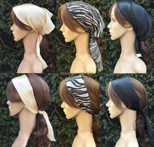 100% Polyester Solid Satin Headwear and Chiffion Zebra Print Headbands