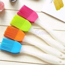 Free Shipping Silicone Bakeware Baking Oil Cream Mixing Cake Batter Spatula Scraper Brush Tool