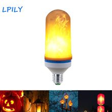LPILY E27 LED Flame Effect Fire Light Bulb Flickering Flame Lamp led bulb light AC85-260V for Party Christmas home decoration(China)