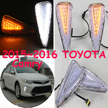 car-styling,2015~2017 Camry daytime light,led,2pcs/set,Camry fog light;car-covers,chrome, Camry(China)