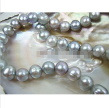 FREE shipping>>> >>>charming natural 11-12mm lavender pearl necklac(4 different clasp can choose) 6.07(China)