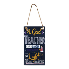 Hot A Good Teacher Is Like A Candie Wall Hanging Wooden Teacher's Day Hanging Sign Board Plaque