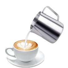 Professional Stainless Steel Coffee Cup Mug Milk Frothing Pitchers With Measurement Marking(China)