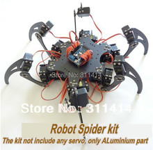 1set Arduino Aluminium Alloy Hexapod Spider Six 3DOF Legs Robot Frame Kit Retail Dropshipping + Free Shipping(China)