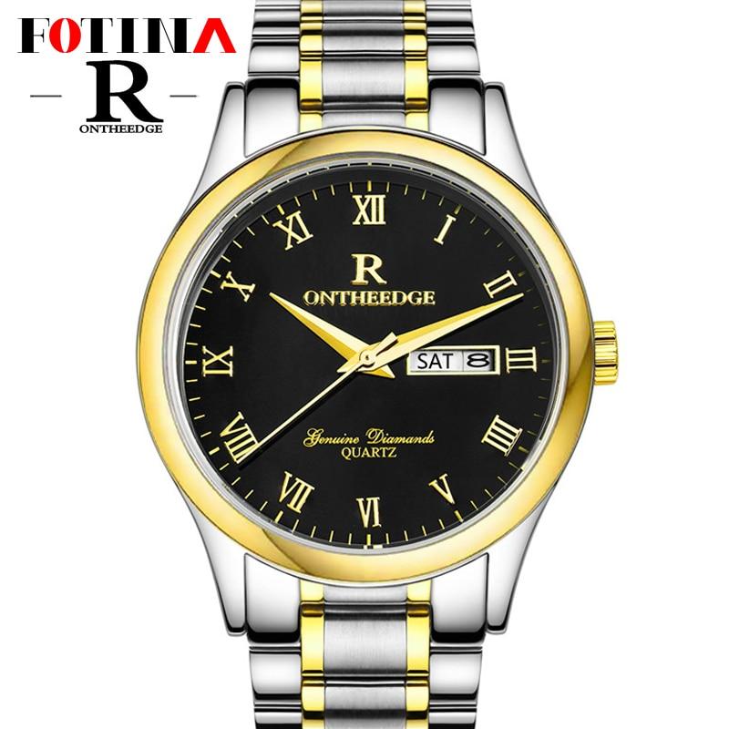 Fotina Top Brand R Watch Men Fashion Full Stainless Steel Quartz Watch Dress Clock Casual Watch Men Wristwatch relogio masculino<br><br>Aliexpress