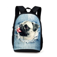 Cute Children School bag Boy 3D Zoo Animal Bagpack for High School Pet Dog Cat Dinosaur Printing Backpacks for Teenagers Mochila