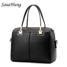 SaueHung Women Handbags Fashion Simple Bags For Female Luxury Brand Leisure Women Crossbody Messenger Bags Black Rubber Red