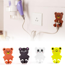 2 pcs/set strong adhesive electrical plugs hook wall socket storage shelf Seamless sticky hooks cartoon hook S2