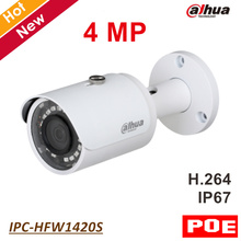 Buy Dahua POE Ip camera IPC-HFW1420S 4MP Network IR Mini Bullet Camera 2.8 mm fixed lens IR Distance 30m Waterproof IP67 for $79.98 in AliExpress store