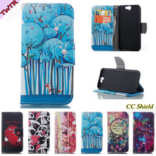 Magnetic Flip case For HTC Aero HTC A9 A 9 fashion cartoon pattern leather box fashion card slot wallet clamshell phone sets(China)