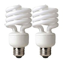 CFL Mini Spring A Lamp, 100W Equivalent, Soft White (2700K) Everyday Spiral Light Bulb (2 Pack)(China)