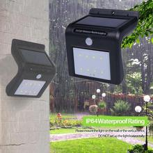 8 LED Solar Light Outdoor Solar Powered Motion Sensor Security Wall Lights Lighting Outdoor Garden Yard Security Lamp 0.5W-1W(China)