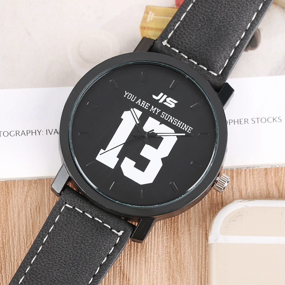 YOU ARE MY EVERYTHING Series Men Watch JIS Unique Number 1314 Quartz Wristwatch Young People Fashion Dress Clock Male Ulzzang 2018 (11)