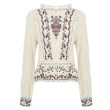 AZULINA cotton embroidery women blouse shirt 2017 spring autumn summer long sleeve female casual blusas vintage ethnic tops(China)