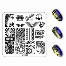 6*6cm Square plastic Nail Stamping Plates plant Flower Pattern Nail Art Stamp Stamping Template Image Plate(China)