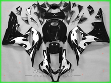 Motorcycle plastic part For Honda fairing kit cbr 600rr 07 08 CBR600RR 2007 - 2008 ( Black silver flame ) Fairings LL97(China)