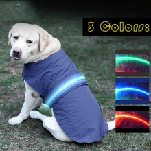 Newest Autumn Winter Dog LED Jacket Clothes for Dogs Night Walking Safety Clothing for Small Large animals Husky Pug Golden