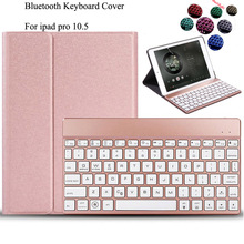 For iPad Pro 10.5 2017 Backlit Keyboard Ultra thin pu Leather Case Stand Detachable Wireless Bluetooth Keyboard+film+Stylus