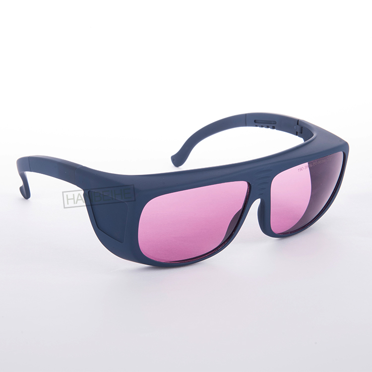 755nm 808 810 820 830 850nm laser safety goggles with o.d 4+ ce certified big frame over normal glasses<br>