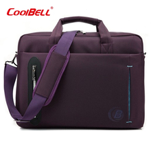 Cool Bell 2017 New Sale Briefcase Casual Fashion 15.6-17.3 Inch Laptop Bag Oxford Men's Shoulder Bag Women Computer Bag Z629(China)