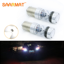 2x 1156 P21W BA15S Canbus Error Bright SHARP Chip LED Bulb Backup Reverse Light BMW AUDI Mercedes Benz Volkswagen VW