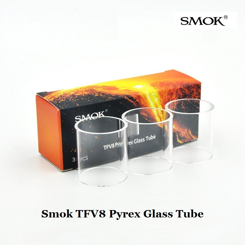 3pcs/lotTFV8 Pyrex Glass Tube Replacement SMOK TFV8 Tank Atomizer Cloud Beast Vape E Cigarette Accessories