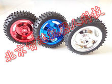 Toy Car Wheels 85MM Rubber Wheel Tires Width 38MM Desigh For Intelligent Tracking Car Chassis Robot