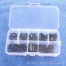 180Pcs M2 Male-Female Nylon Hex Thread Standoff Spacer PCB Screw nut Bolt Assortment kit set Fastener Hardware complete With Box(China)