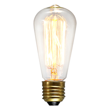 Buy Retro lamp st64 vintage edison bulb e27 incandescent bulb 110v 220v holiday lights 40w 60w filament lamp lampada home decor for $2.99 in AliExpress store