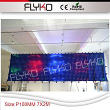 Flykostage led curtain display text pitcure gif flash