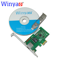 Winyao WYI210T1 PCI-E X1 Gigabit Ethernet Network Card(NIC), Copper RJ45 Port,PCI Express 2.1 x1, I210-T1 1000M I210T1 lan(China)